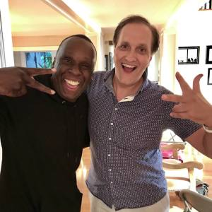 Peter Diaz with Bruny Surin