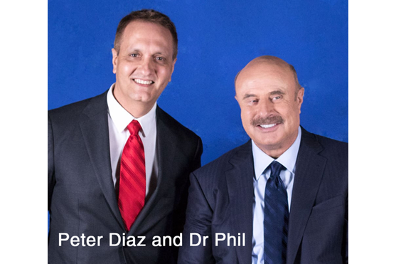 Peter Diaz with Dr Phil McGrew